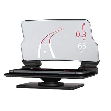 Mengonee GPS del Coche HUD Head Up Display navegación Inteligente Proyector de Soporte para teléfono Soporte