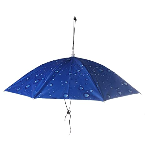 ee291754ad50c Buy Magideal Outdoor Fishing Camping Hiking Sun Wear Folding Umbrella Hat  Head Cap Blue Online at Low Prices in India - Amazon.in