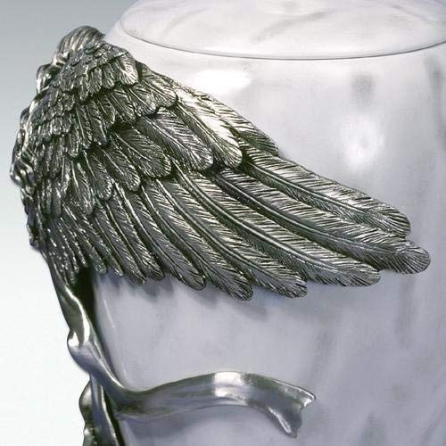13 x 13 x 20 cm 5 inch//12.5 cm Multicolour Metal Angelstar Pewter Urn Angels Embrace Size Small