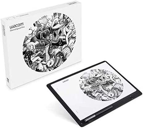 Wacom Sketchpad Pro Graphic Pen Drawing Tablet Similar Intuous Pro Genuine Leather, Software Included, Compatible with Windows, Mac OS, AppleiOS, Android, AMAZON EXCLUSIVE - Built for Professionals