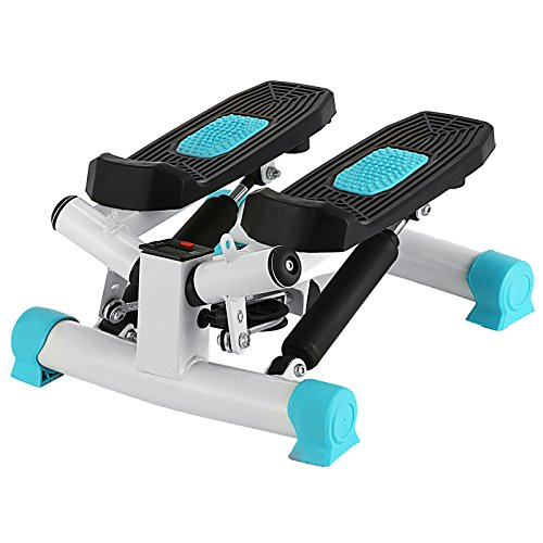 Happybuy Exercise Mini Stepper 220lbs/100kg Mini Stepper Exercise Equipment Monitor Mini Stepper Machine with Band for Exercise (Blue) by Happybuy (Image #8)