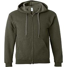Gildan Heavy Blend Mens Vintage Full Zip Hooded Sweat / Hoodie