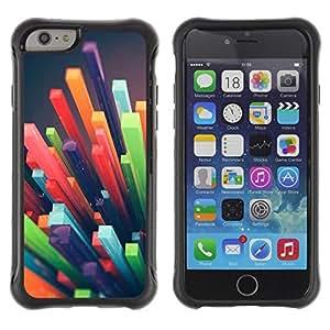 Suave TPU Caso Carcasa de Caucho Funda para Apple Iphone 6 / polygon straw 3d abstract art plastic / STRONG