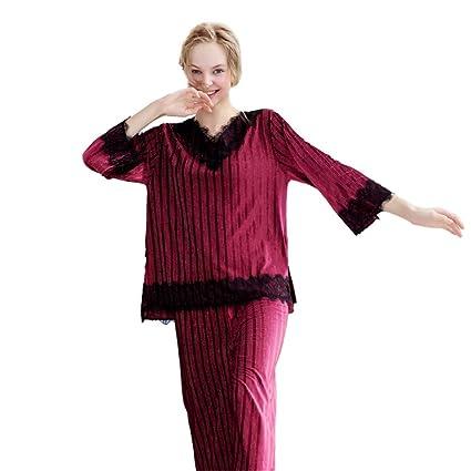 77dec4c90149 Flyci Pijamas para Mujer Elegantes Pijamas de Boutique para Mujer, de Lujo,  2 pz