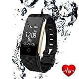 Fitness Tracker Bluetooth Watch Bracelet – Luxsure Waterproof Activity Monitors Heart Rate Sleep Health Tracker Step Counter Notification Alerts Smart Wristband for IOS Android Smartphones (Black)