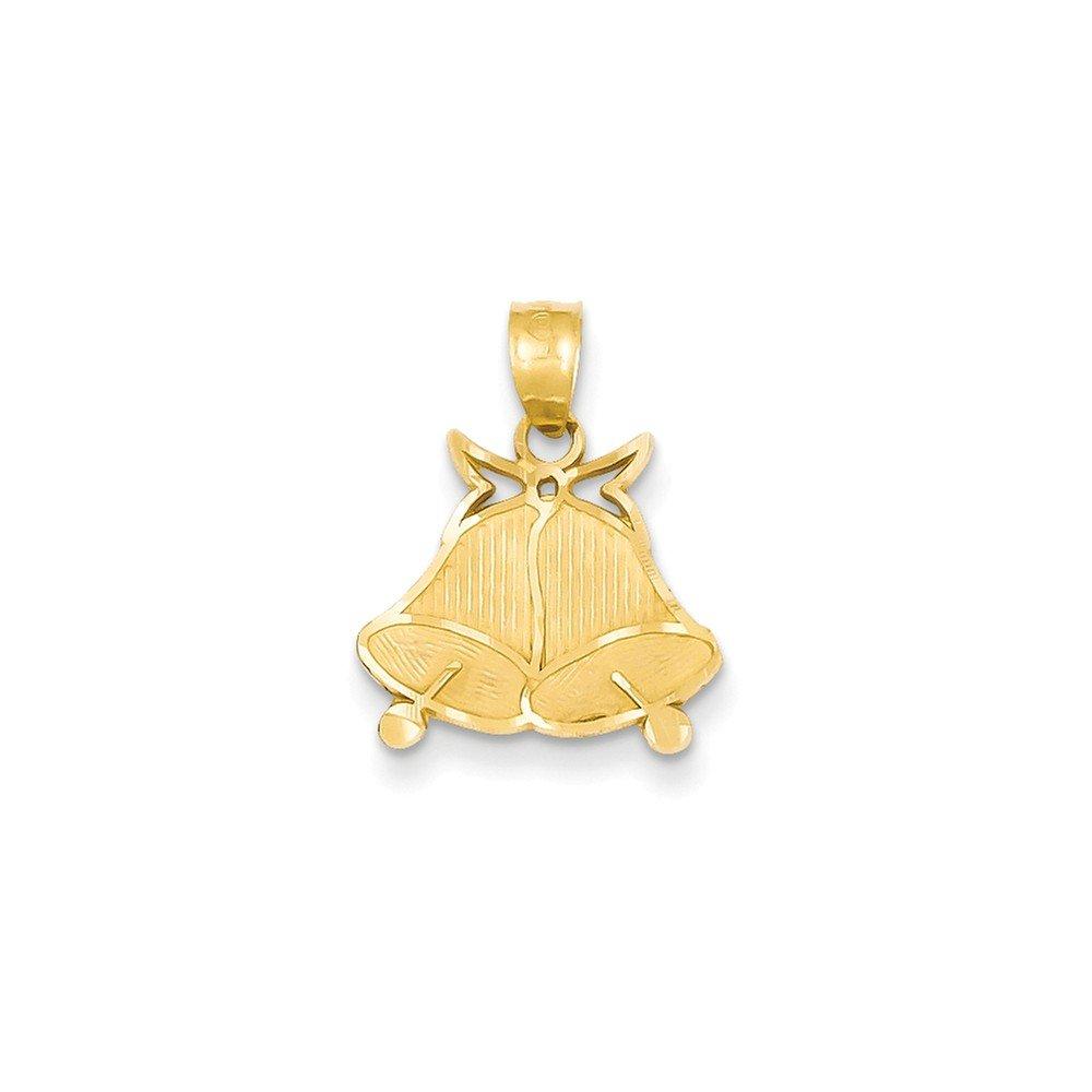 Mia Diamonds 14k Yellow Gold Bells Pendant