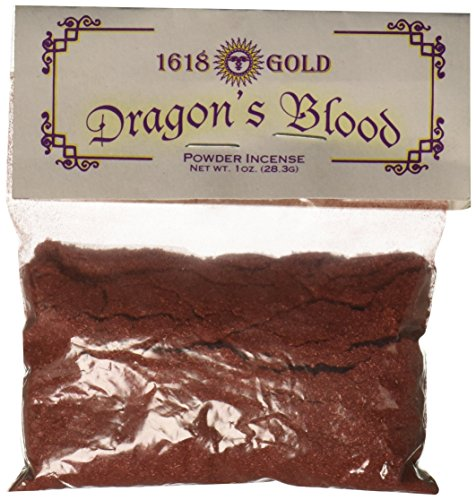 AzureGreen 1 X Dragons Blood Powder Incense 1618 Gold