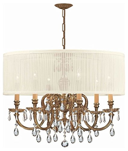 Chandeliers 6 Light with Olde Cast Brass 26 inch 360 Watts - World of - Chandeliers Cls 6 Light