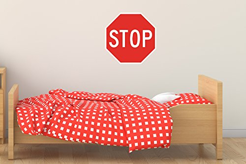 Street & Traffic Sign Wall Decals - Stop Sign - 12 inch Removable Graphic