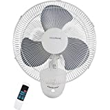 Homebasix 16 Oscillating Wall Fan with Remote FW40-S1
