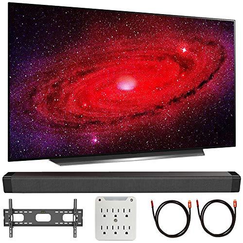 "LG OLED65CXPUA 65"" CX 4K OLED TV w/AI ThinQ (2020) with Deco Gear Soundbar Bundle"