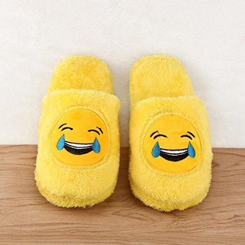 FTXJ Women Slippers Warm Shoes Soft A Floor Household Stuffed Mens Indoor Emoji 4w5xxS