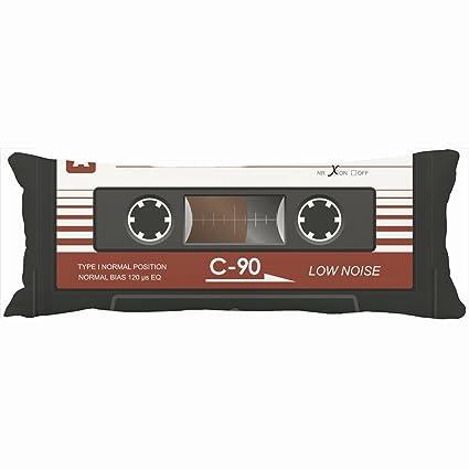 Cuerpo almohadas decorativo antiguo retro de cinta de casete de música Mix diseño único Decoración para ...