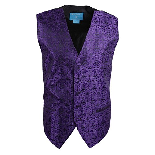 Epoint EGC1B05B-S Blue Violet Patterned Manufacturers Waistcoat Woven Microfiber Independence Day Mens Vest Small Vest