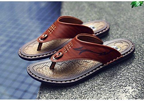 sandali Uomini Il nuovo estate Uomini scarpa Antiscivolo indossabile Doppio uso Spiaggia scarpa Uomini infradito sandali tendenza ,Marrone C,US=10,UK=9.5,EU=44,CN=46