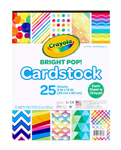 Crayola Cardstock Paper, Colored Cardstock, 25 Count