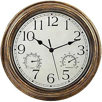 7 Inch Sauna Clock Decorative Wall Clock for Kitchen Office Bathroom