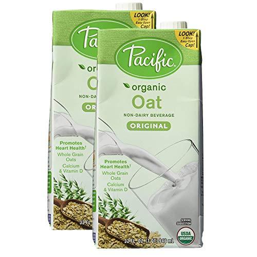 Pacific Natural Foods Organic Oat Beverage, Original, 32 Ounce Box, Pack of 2 (Best Oat Milk Recipe)