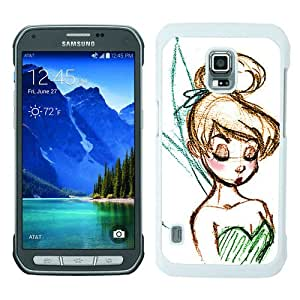Samsung Galaxy S5 Active Screen Case ,Disney Tinkerbell White Samsung Galaxy S5 Active Cover Fashion And Unique Designed Phone Case