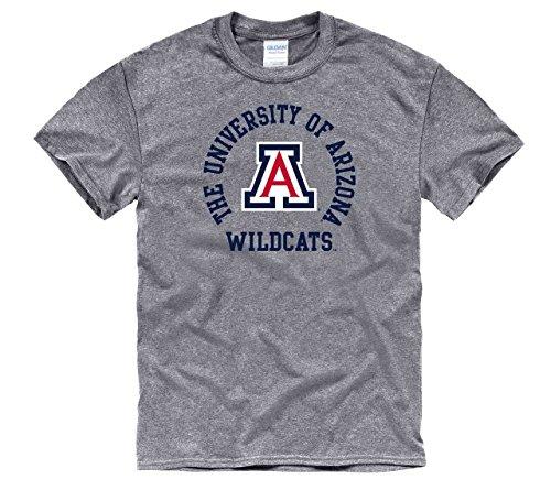Campus Colors Arizona Wildcats Adult NCAA Team Spirit T-Shirt - Graphite, Medium