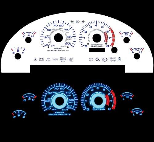 99-04 Ford Mustang Gt V8 White Glow El Gauges