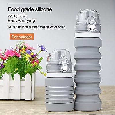 Rokoo Bouteille pliable de silicone de pliage réutilisable de silicone de bouteille de l'eau pliable de preuve de fuite de bouteille de l'eau