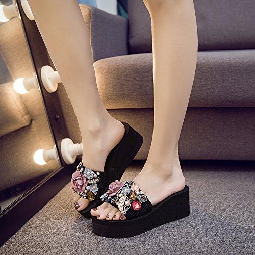 dama FLYRCX diamantes calidad zapatillas frío de Ocio alta confort libre aire moda playa h antideslizante de de al calzado qwq864