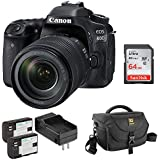 Canon EOS 80D DSLR Camera with 18-135mm Lens with Pawa Dual LP-E6 Lithium-Ion Battery Pack, DSLR Shoulder Bag, 64GB Ultra Memory Card