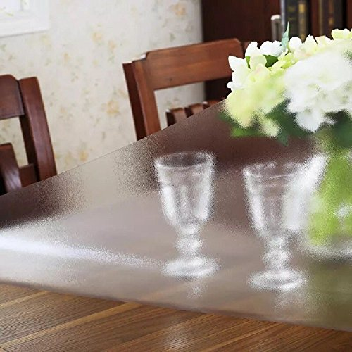 """LovePads 2mm Thick Custom Matt Rectangular Table Cover Wood Furniture Stain Protector Dining Tabletop Protection Pad Desk Protective Cover PVC Mats Wipeable Waterproof Tablecloth 42"""" x 70"""""""