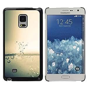 KLONGSHOP // Cubierta de piel con cierre a presión Shell trasero duro de goma Protección Caso - Agua Splash gota - Samsung Galaxy Mega 5.8 //