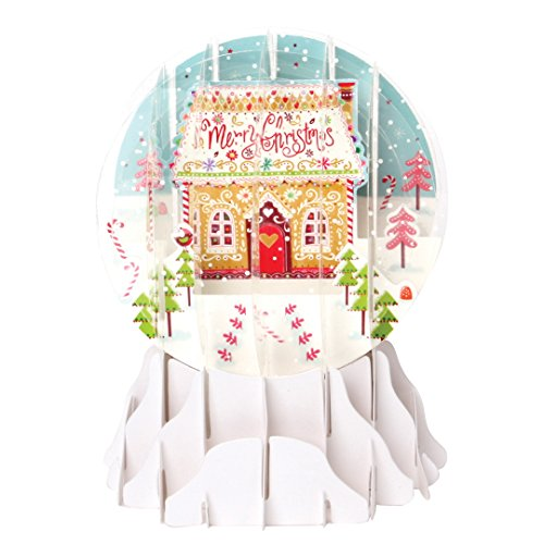 (3D Pop Up Christmas Snow Globe - CANDY HOUSE - #UP-WP-SGM-029)