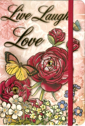 Punch Studio Soft Cover Bungee Journal Live Laugh Love 78245