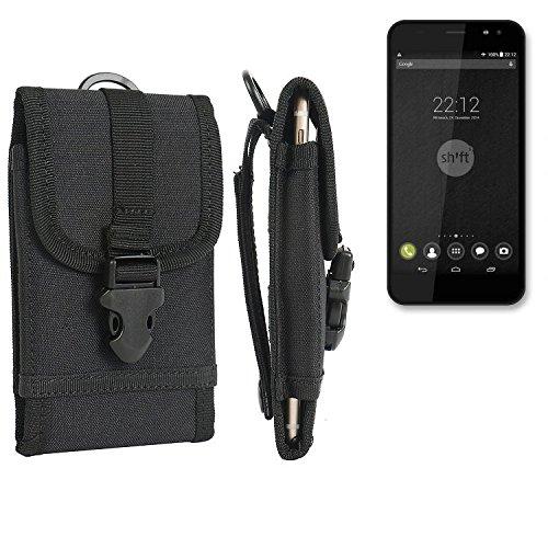 bolsa del cinturón / funda para Shift Shift4, negro | caja del teléfono cubierta protectora bolso - K-S-Trade (TM)