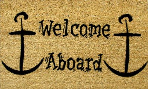 Calloway Mills 120091729 Welcome Aboard Doormat, 17