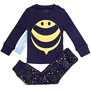 "100% Cotton ""bee"" Boys & Girls 2 Piece Pajama Set (size 12m-7y) ++2 Free Gifts!"