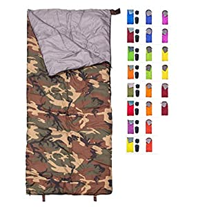REVALCAMP Sleeping Bag Indoor & Outdoor Use - Navy Seal Style. Great for Kids, Boys, Girls, Teens & Adults. Ultralight and Compact Bags are Perfect for Hiking, Backpacking & Camping