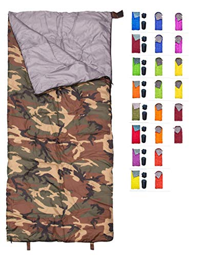 REVALCAMP Sleeping Bag Indoor & Outdoor Use – Navy Seal Style. Great for Kids, Boys, Girls, Teens & Adults. Ultralight and Compact Bags are Perfect for Hiking, Backpacking & Camping