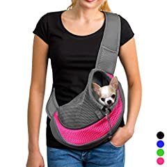 Sling Pet Carrier, Reversible Mesh Travel Tote Shoulder Sling bag for Dogs Cats       It is a comfortable and convenient sling dog bag, perfect everyday walk, weekend adventures and other outdoor activities.                Features:   ...