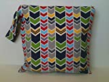 Wet Bag, Cloth Diaper Wet Bag, Wet dry Bag, Diaper Keeper, Preppy Chevron wet bag, Baby Gift