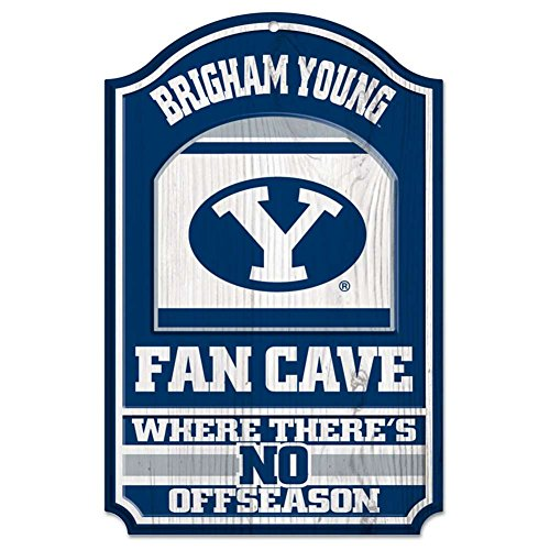 Wincraft BYU Cougars Fan Cave Wood Sign
