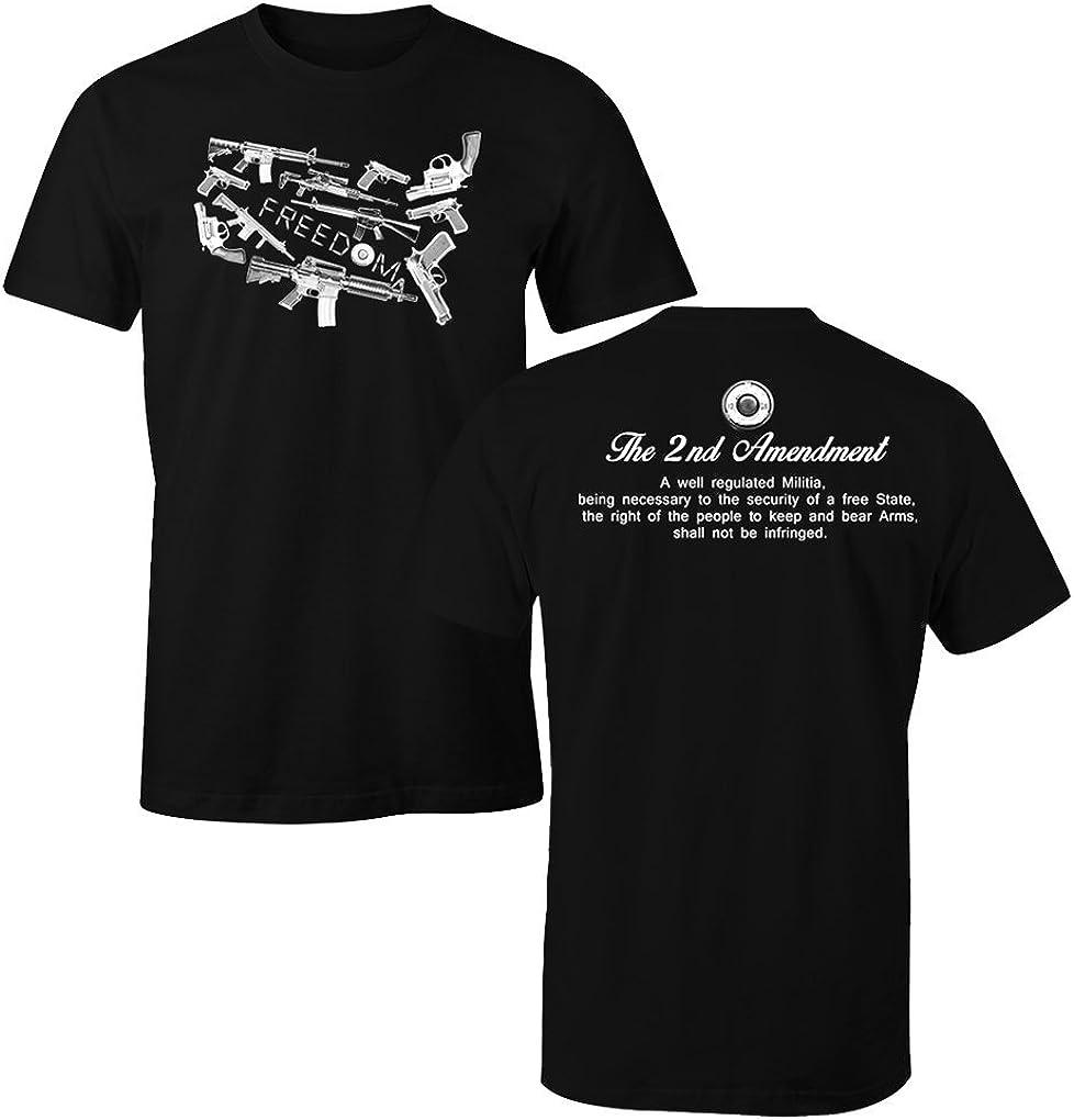 KIDS BOYS GIRLS Second 2nd Amendment American Flag T Shirt Patriotic Gun Rights