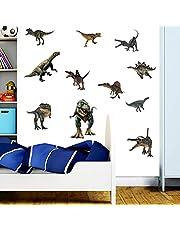 Dinosaurus muurstickers, aquarel dinosaurussen kinder muur sticker, wanddecoratie voor kinderen, kinderkamer wanddecoratie, babykamer slaapkamer muur sticker