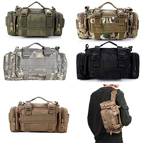 Contever® Marsupio Borsa a Tracolla Multifunzione Borsa Fotografica di 600D Oxford Waist Bag per le Attività all'aperto Uso Quotidiano(CP-Camouflage)