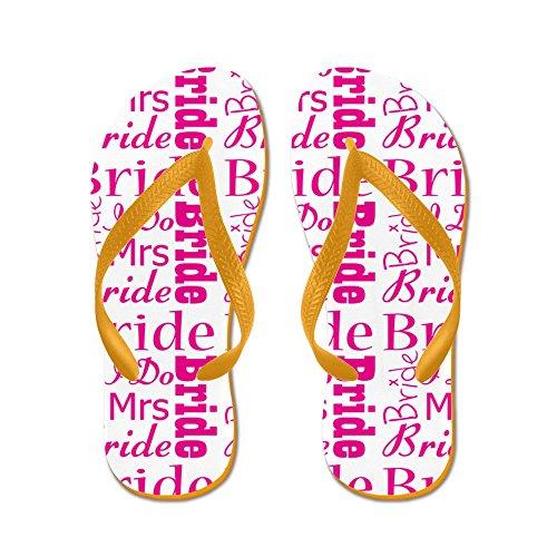 CafePress Bride - Flip Flops, Funny Thong Sandals, Beach Sandals Orange