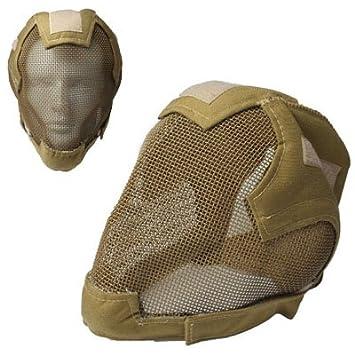Máscara Protector De Alambre Táctico Casco / Esgrima (Gris)