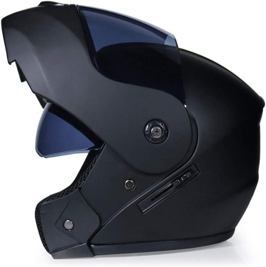 WWMH Casque Moto Modulable Double Visi/ère Casque de Moto Homme et Femme pour Moto Scooter Chopper S, M, L, XL ,E,S