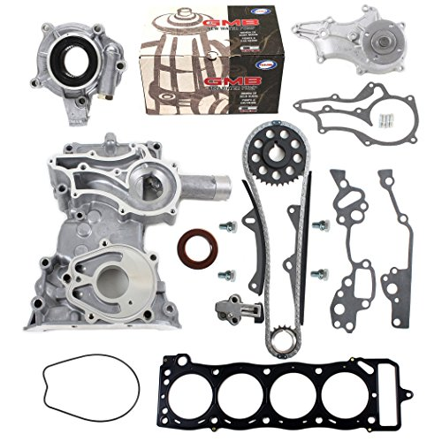 NEW TK10120TCWPOPHG Timing Chain Kit (2 Heavy Duty Metal Guide Rails), Timing Cover, Water Pump, & Multiple Layer Steel Head Gasket / 85-95 Toyota 2.4L 4Runner Pickup Celica SOHC Engine 22RE 22REC