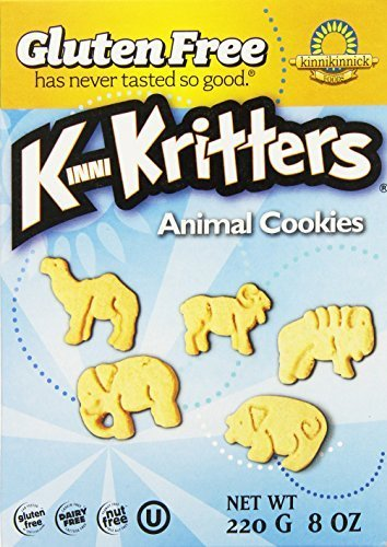 Kinnikinnick Gluten Free Animal Cookies, 8 Ounce (Pack of 36)