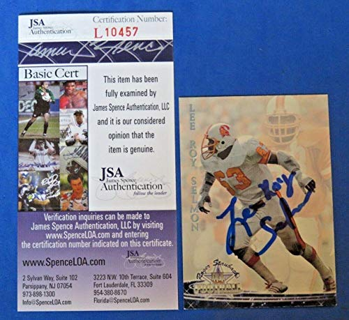(1991 Lee Roy Selmon Signed Football Card #60 Roger Staubach ~ L10457 ~ - JSA Certified - NFL Autographed Football Cards)