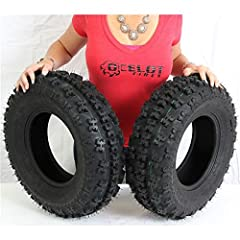 Kit contains 2 tires 4 ply rated quad front sport tire Directional tread pattern with 15mm tread depth Enhanced lug depth design provides better braking control Dynamic tread pattern for precise steering on soft to hard pack conditions Good p...
